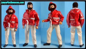 LoucoPorBonecos - FALCON 80 - Red Hoodie and Beige Pants Uniform for Action Man, Gi Joe Etc
